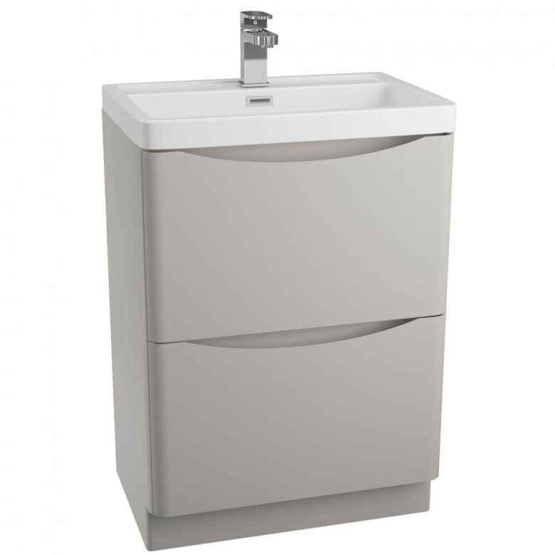 Harbour Clarity 600mm Floorstanding Vanity Unit & Basin - Grey