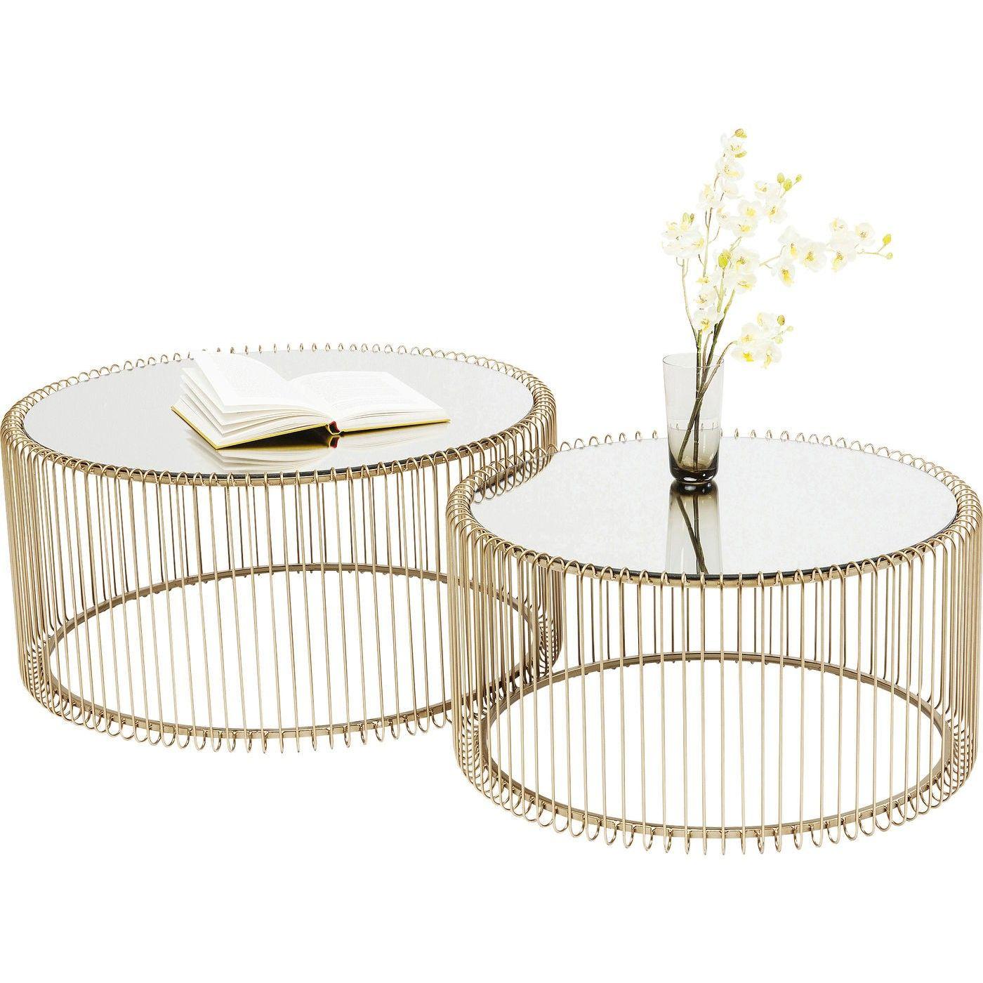 Couchtisch Wire Messing 2 Set Wohnzimmertische Couchtisch Design Und Kare Design