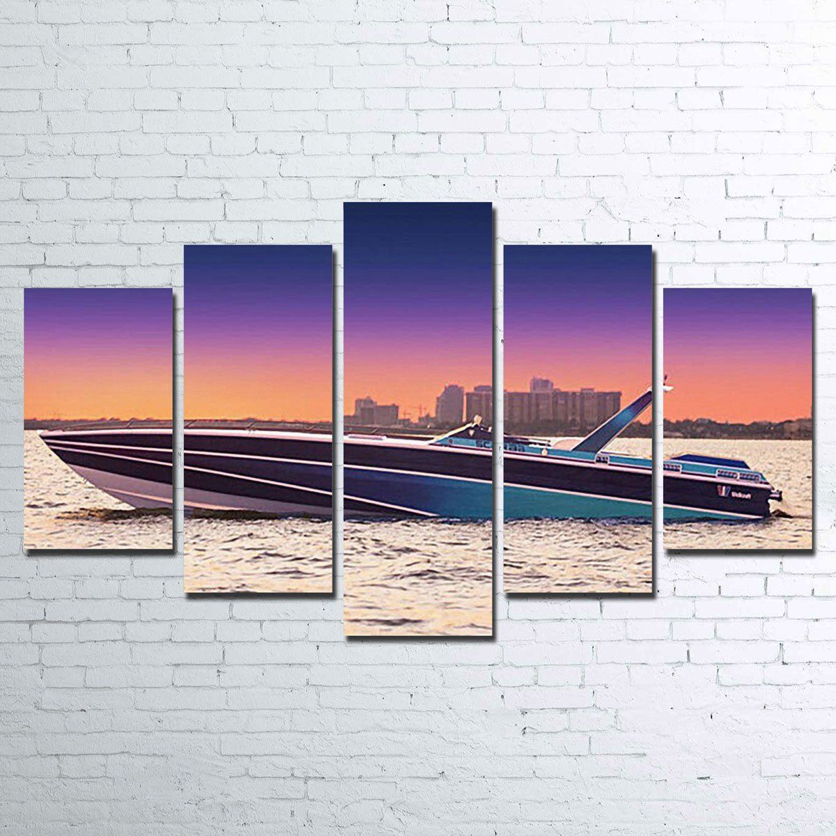 Miami Vice Scarab Canvas Set Miami Vice Canvas Set Sunset Canvas