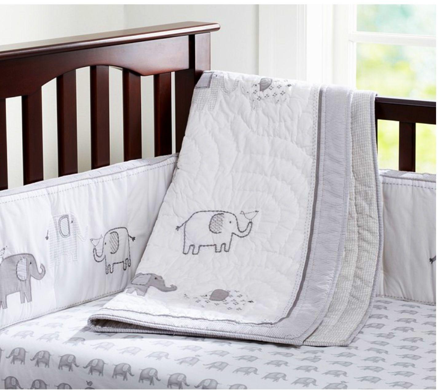 Taylor nursery bedding from Pottery Barn Kids Elephant