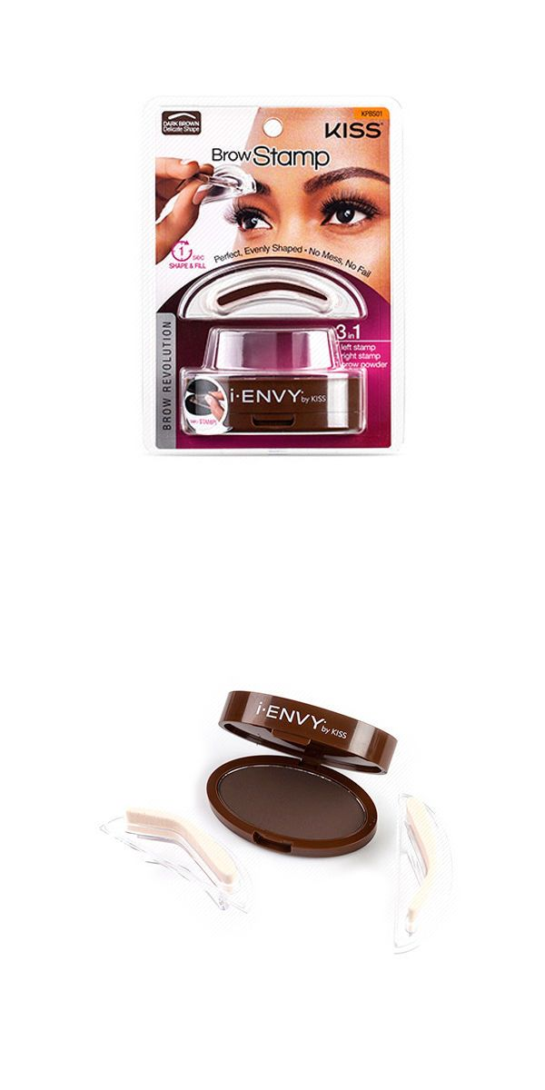 Eyebrow Liner And Definition Kiss I Envy Brow Stamp Kit Revolution Dark Brown 021Oz 6G Kpbs01 New BUY IT NOW ONLY 10895