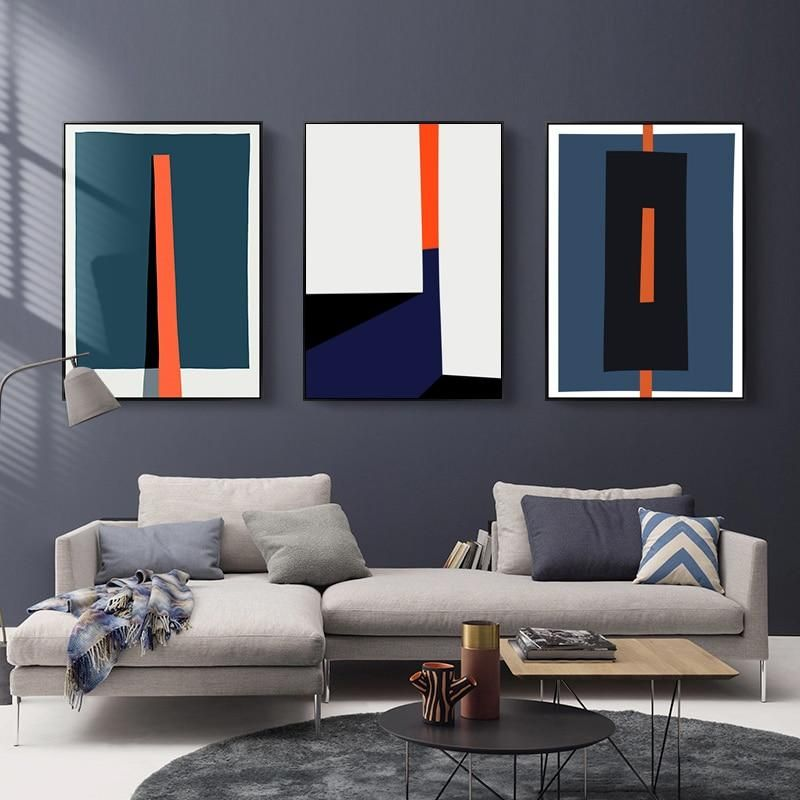 Bold Geometric Abstract Design Wall Art Posters Contemporary Art