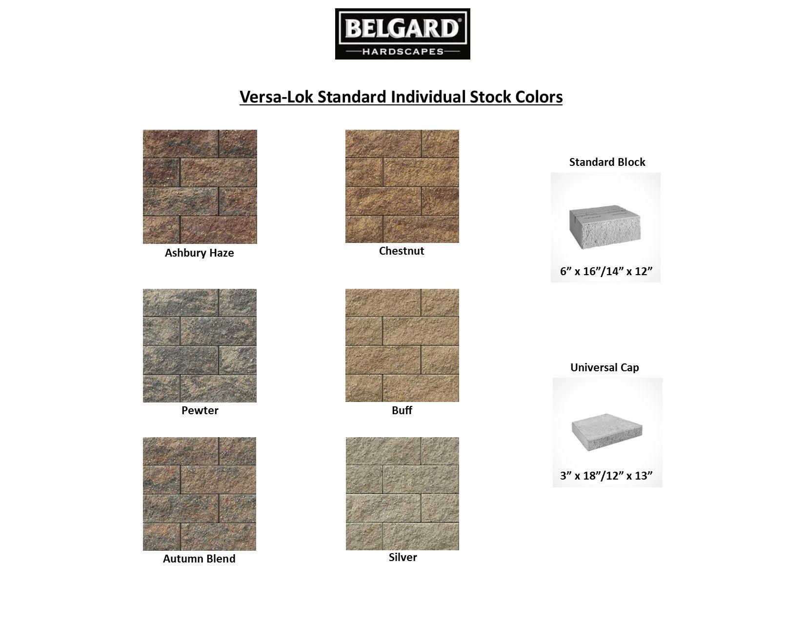 Belgard Versa Lok Champion Brick Stock Colors Landscape Design Hardscape Belgard Hardscapes