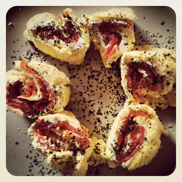 home made Dukan salmon rolls