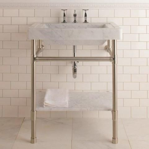 Stone Forest Console Sink Circa Marble Top Console Sink