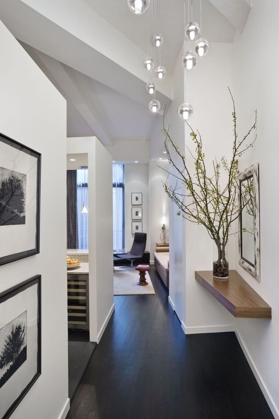 Love The White Walls W Dark Wood Floor Beautiful Home Designs