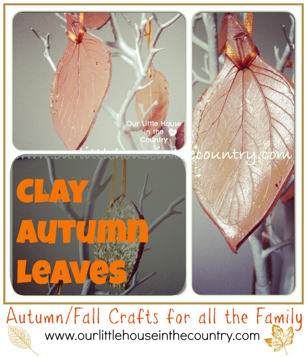 Clay Autumn Leaves Fall Crafts For Kids