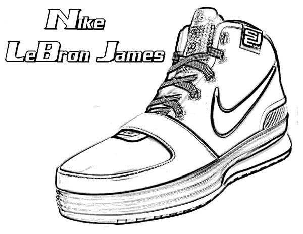 Nike Lebron James Shoes Coloring Page Coloring Sky In 2020 Lebron James Shoes James Shoes Nike Shoes Photo
