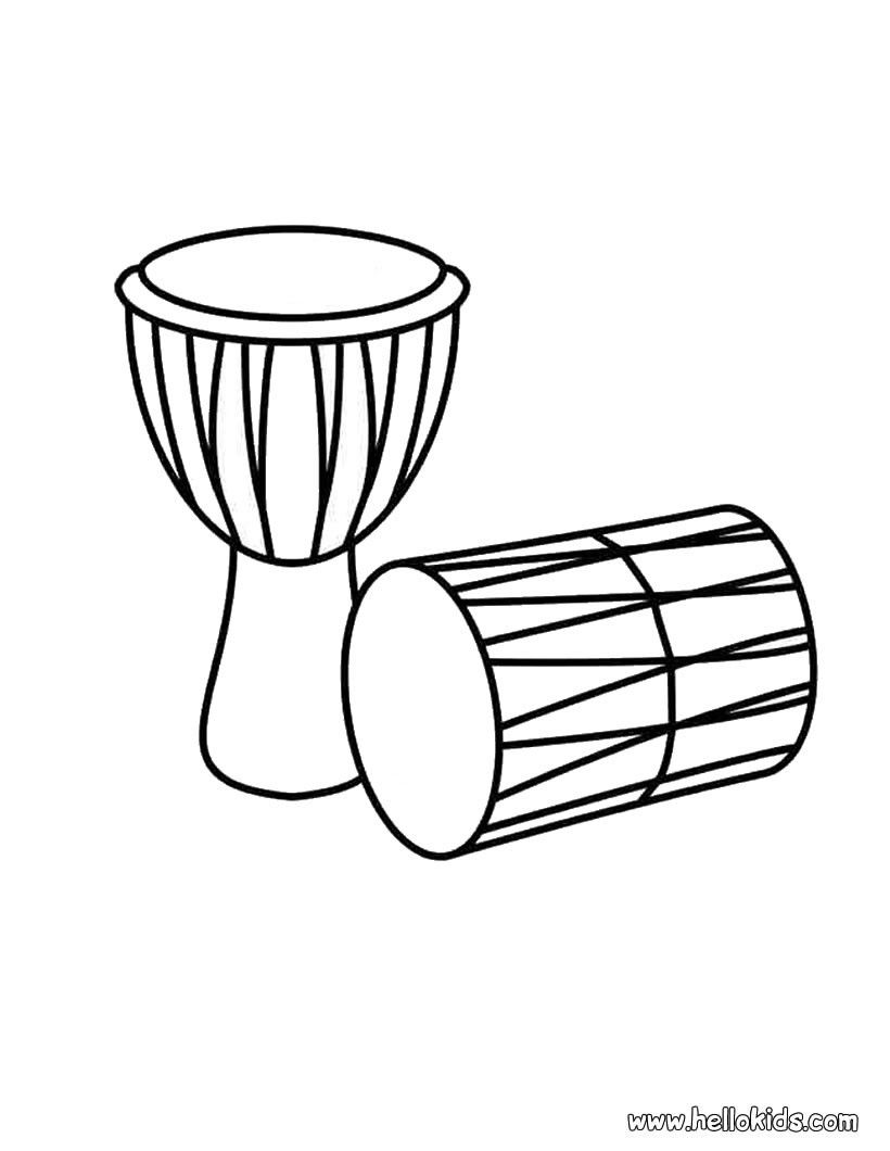 Drums Coloring Page Drum Drawing Drum Craft Coloring Pages
