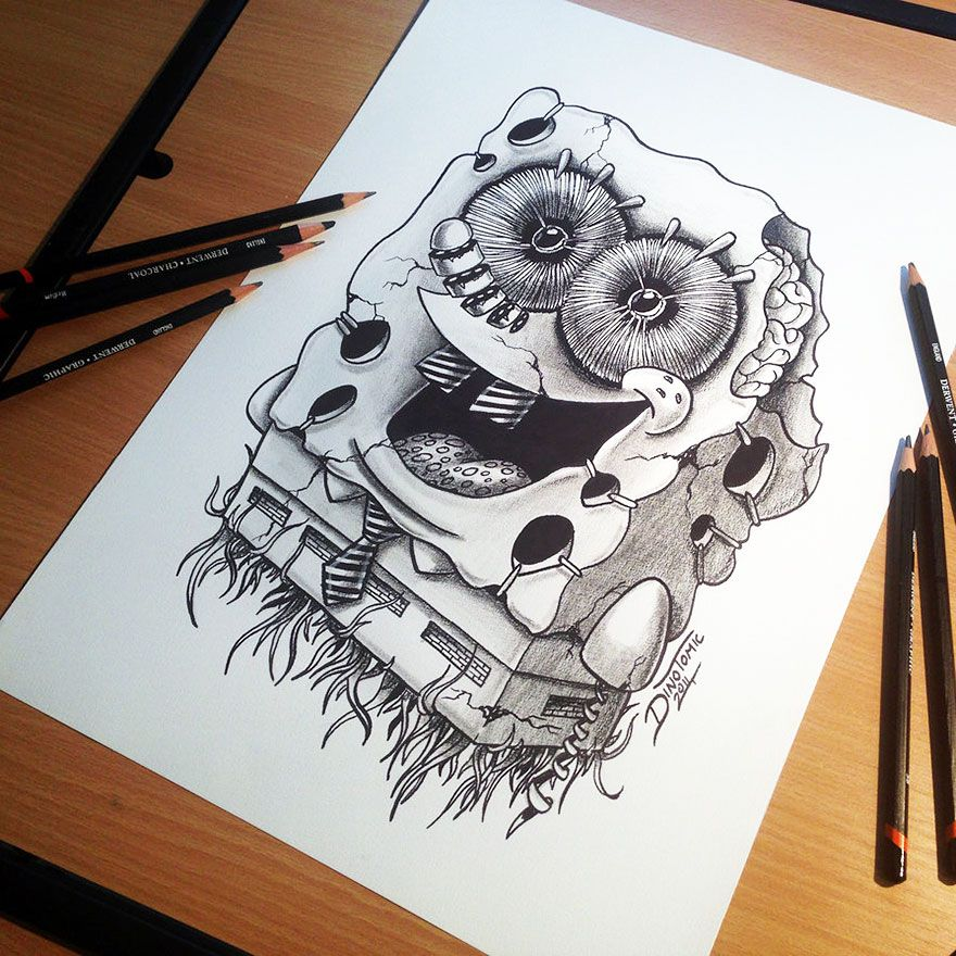20 incredible pencil drawings by tattoo artist dino tomic