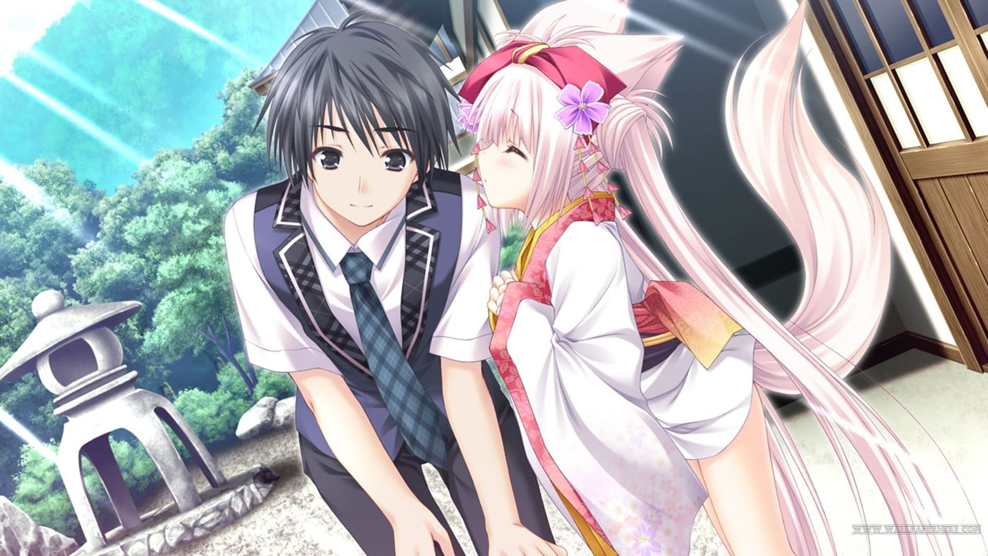 Pin On Quick Saves Cute anime couple wallpaper 1920x1080