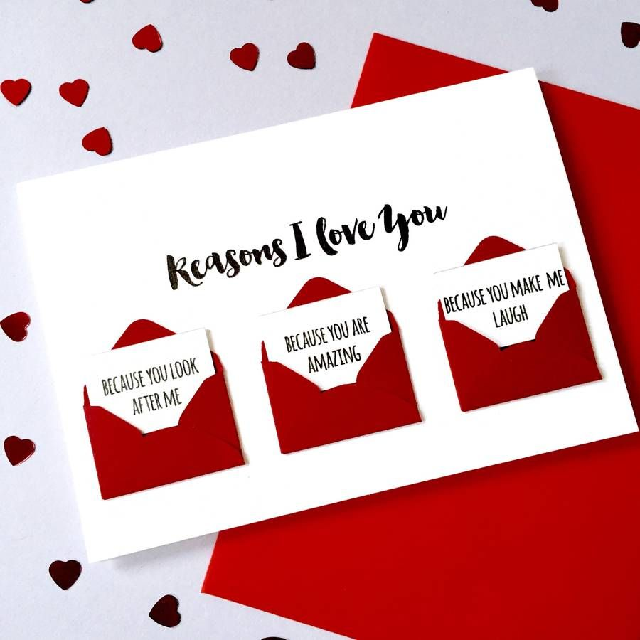 Personalised Reasons I Love You Love Letter Card  Envelopes