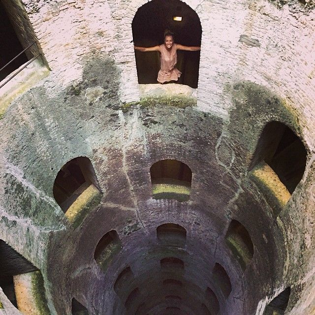 #RenataZanchi Renata Zanchi: Scary...but wooow! St. Patrick Well -Orvieto- was commissioned by Pope Clemente VII in 1527. 53,13mt deep, 13mt wide, it has 2 spiral staircases, one for descending and one for ascending, each totally independent of the other, and each with 248 steps, large enough to accommodate the donkeys once used to carry water to the surface. 70 windows cut into the wall light the stairs from the central shaft. Quite impressive, eh? #StPatrickWell #PozzoDiSan