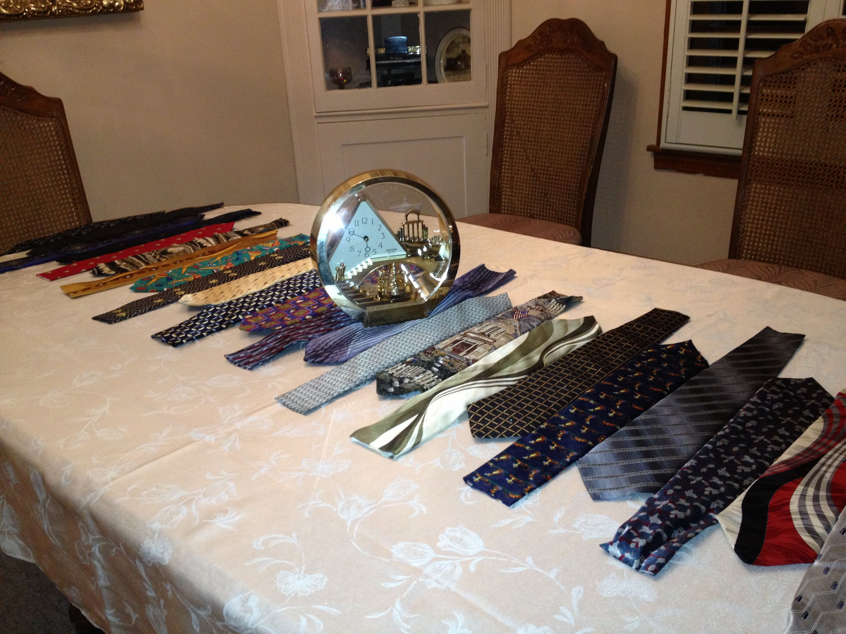 The tie table runner that I made my meme for Father's Day ...