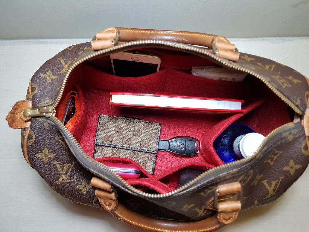 d3916e36b31 Original Club Organizer when fitted inside a Louis Vuitton Speedy 30 ...