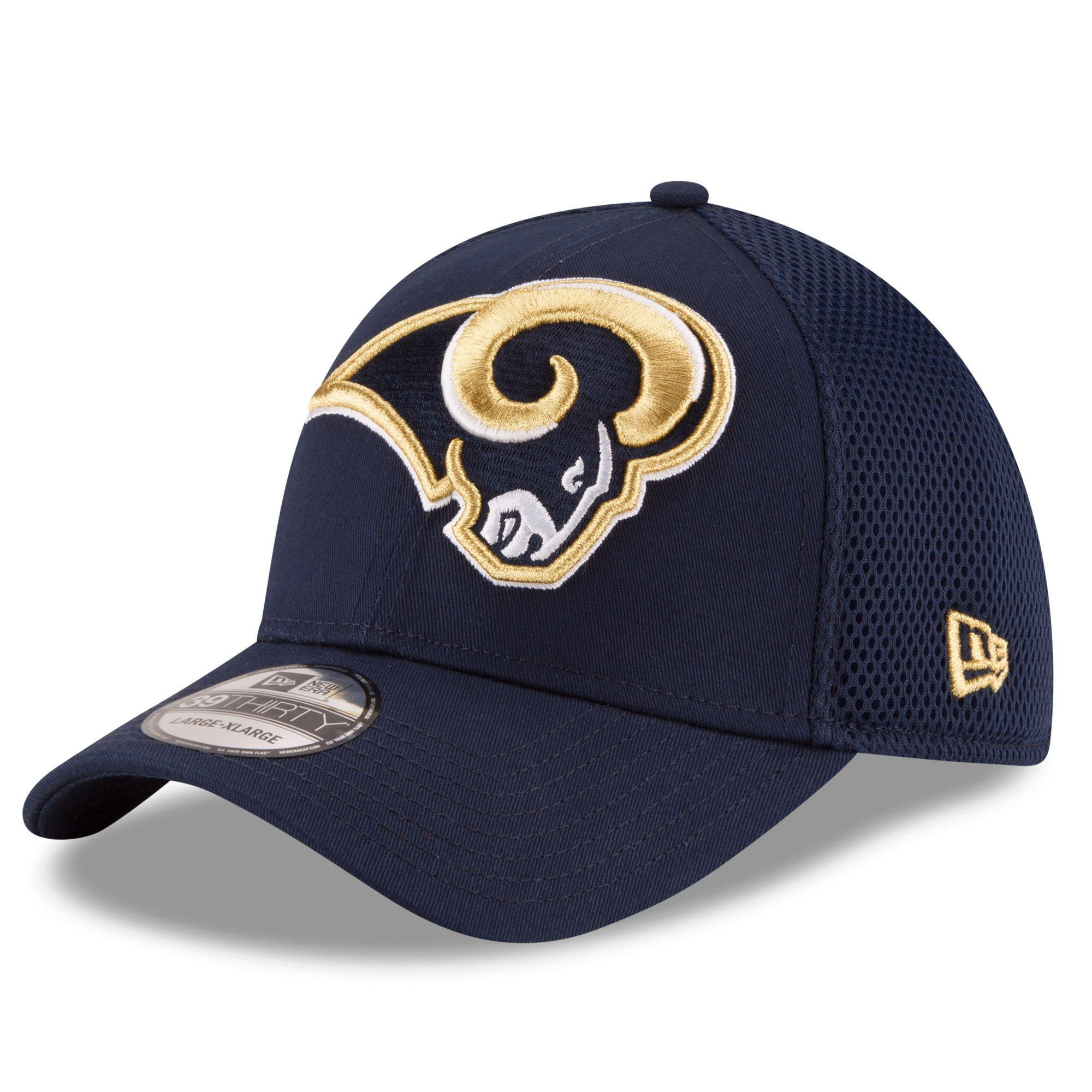 857dd01ca18 New Era Los Angeles Rams Navy Mega Team Neo 39THIRTY Flex Hat