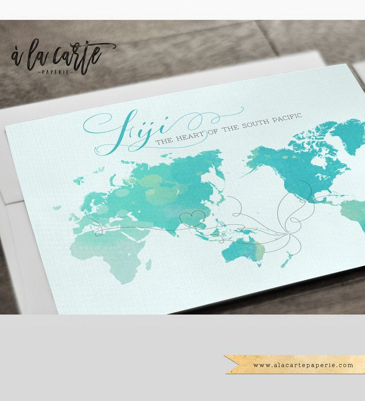 Fiji Pacific Islands Destination Wedding Invitation Set Tahiti | A ...