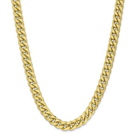 10k 11 Mm Miami Cuban Chain Men S Size 24 Inch Yellow Gold Chains For Men Chains For Men Fine Jewelry Gift