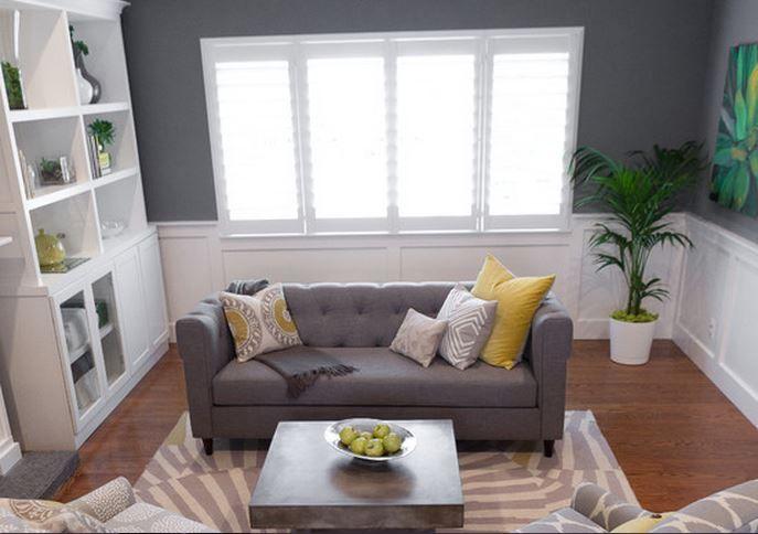 idee petit salon gris peinture idee de salon Deco Maison Moderne ...