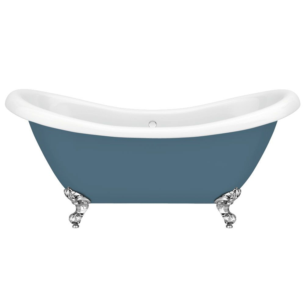 Earl Blue 1750 Double Ended Roll Top Slipper Bath w. Ball + Claw Leg ...