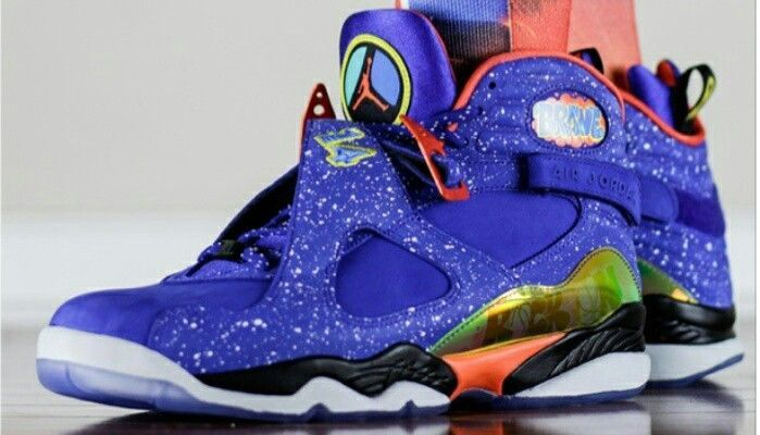 Air Jordan Doernbecher 8 Sneaker (Detailed Look On Foot)