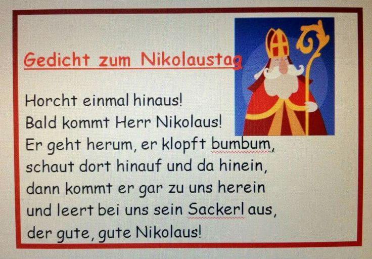 Pin Von Noemi Banszki Auf Weihnachten Nikolaus Lieder Nikolaus Gedicht Nikolaus