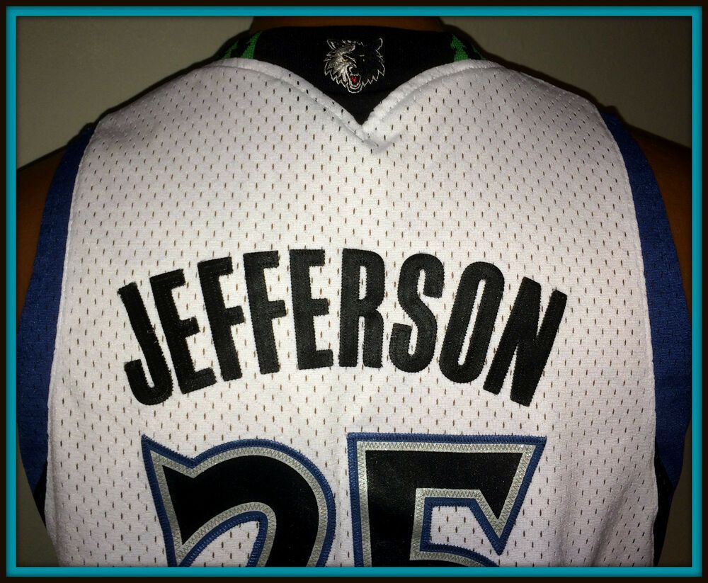 8c64fcf148b6 VINTAGE MINNESOTA TIMBERWOLVES AL JEFFERSON REPLICA ADIDAS JERSEY YOUTH  LARGE+2  adidas  MinnesotaTimberwolves