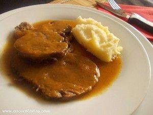 Asados De Carne Para Las Comidas Y Cenas Navideñas Ternera En Salsa Receta Redondo De Ternera Ternera Al Horno