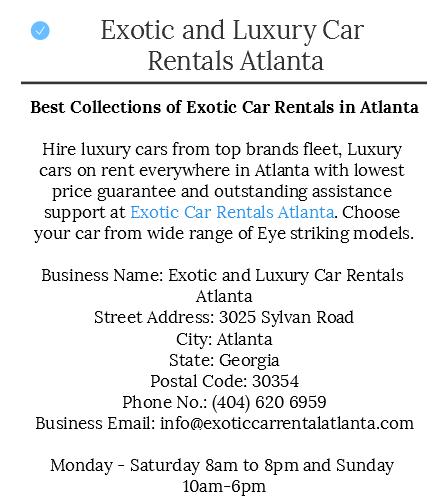 Pin On Exotic And Luxury Car Rentals Atlanta