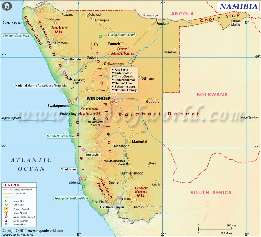 Namibia Map Namibia Pinterest Rivers And City - Namibia map