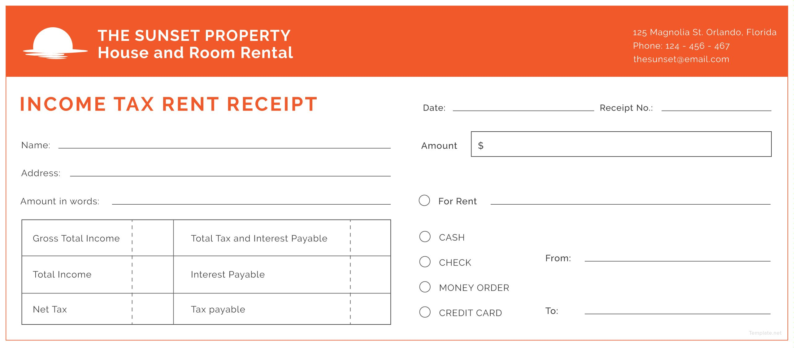 Free Rent Receipts Magnificent Download Income Tax Rent Receipt Template For Free In Illustrator .