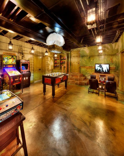 have the coolest basement on the block | basements, game rooms and