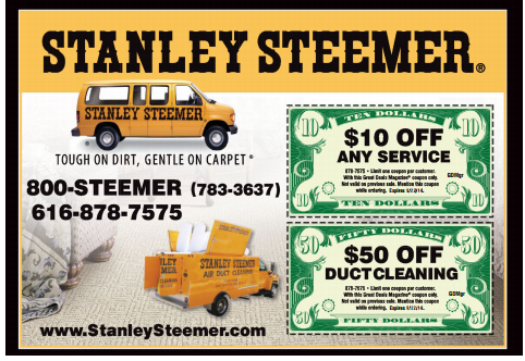 $50 off duct cleaning or 10% off any service from Stanley Steemers