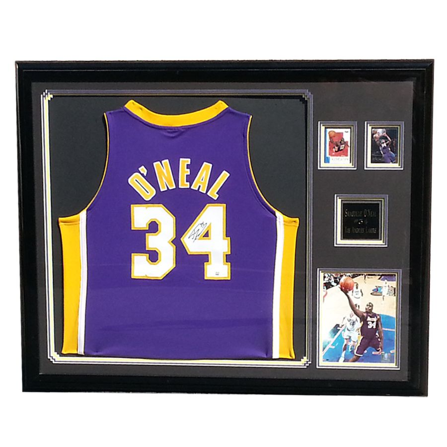 Authentic Signed Shaquille O\'Neal Shaq Deluxe Framed Lakers Jersey ...