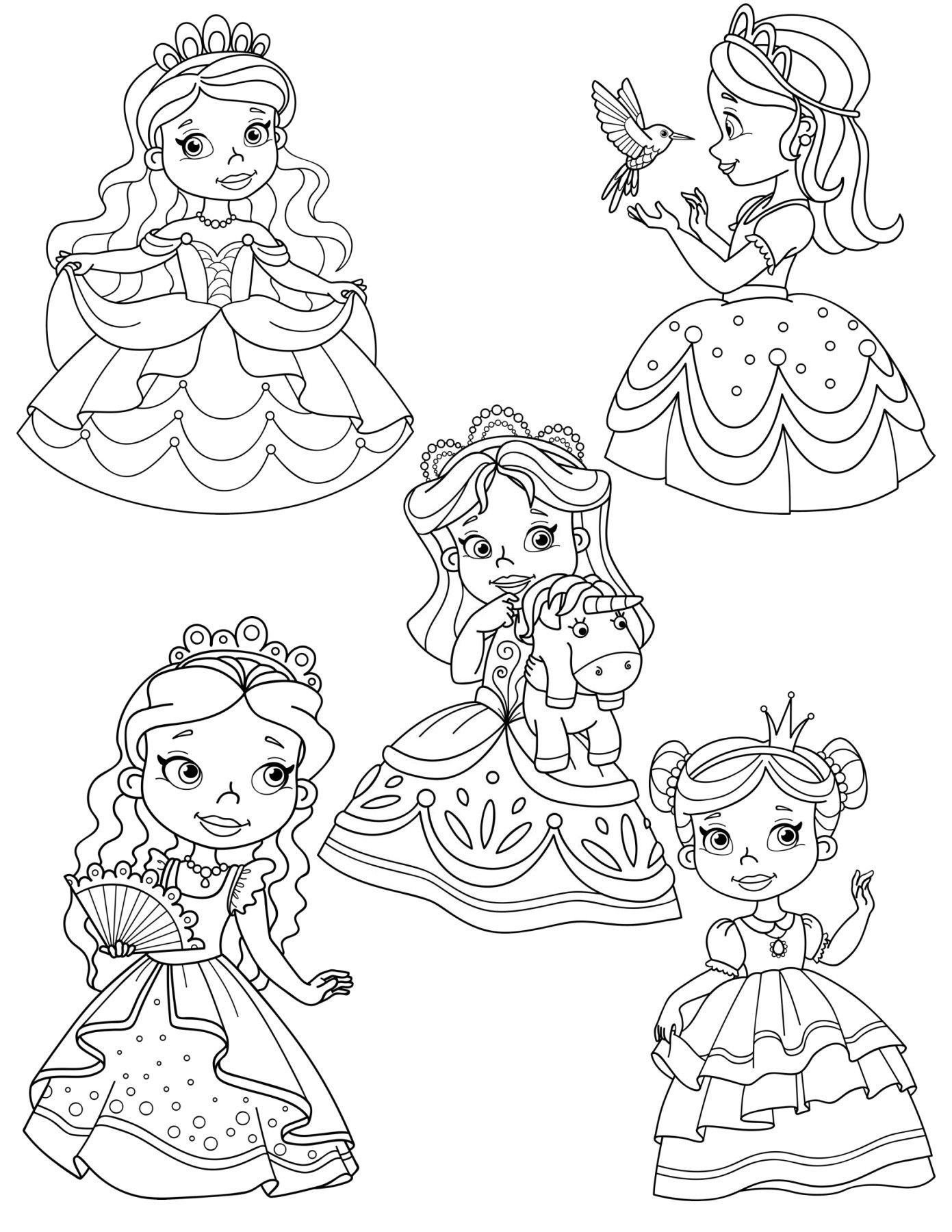 Princess Unicorn Coloring Page Youngandtae Com Unicorn Coloring Pages Coloring Pages Princess Coloring Pages