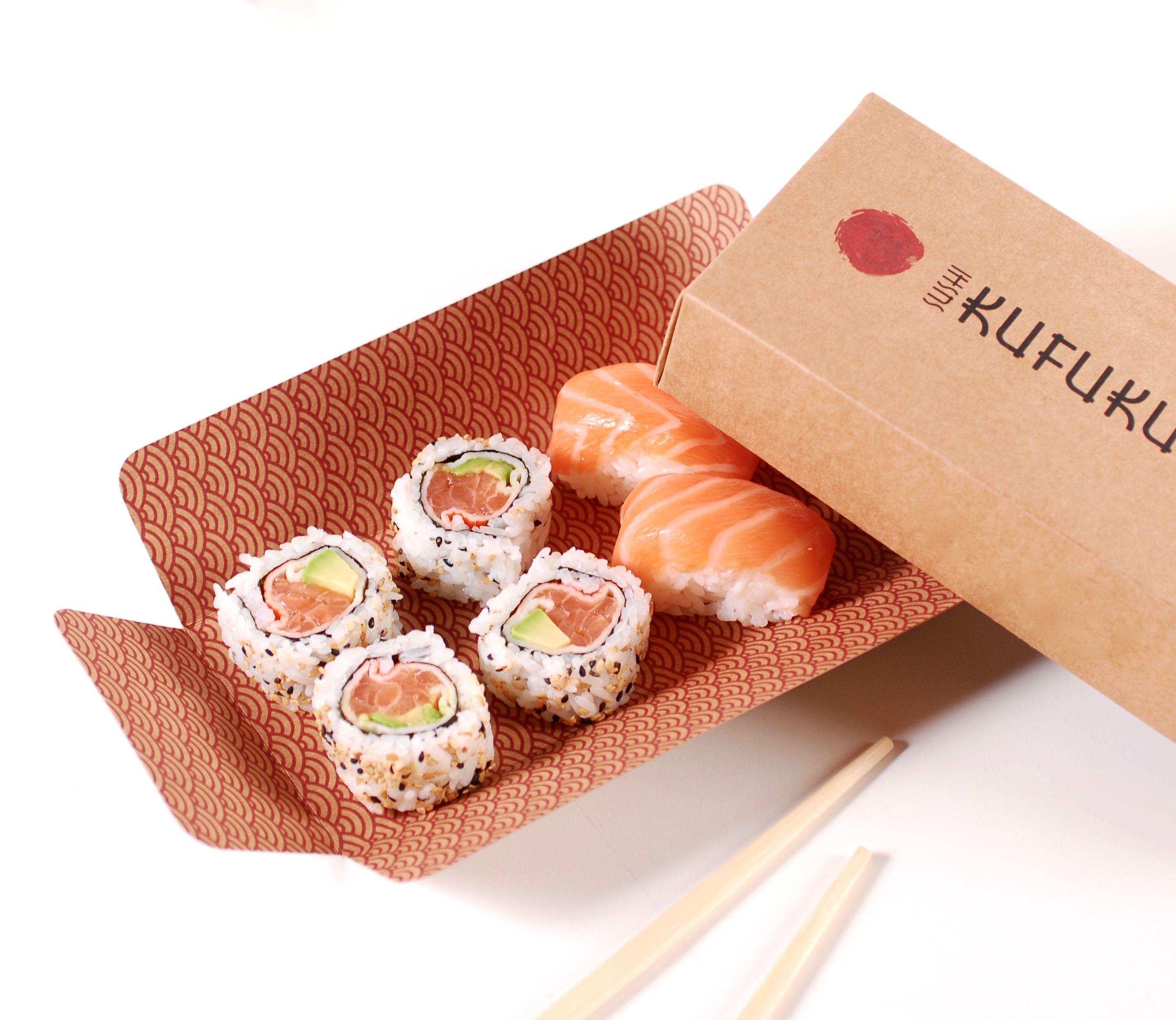 Caja Cuadrada Sushi Diseño De Envases Para Alimentos Diseño De Sushi Sushi