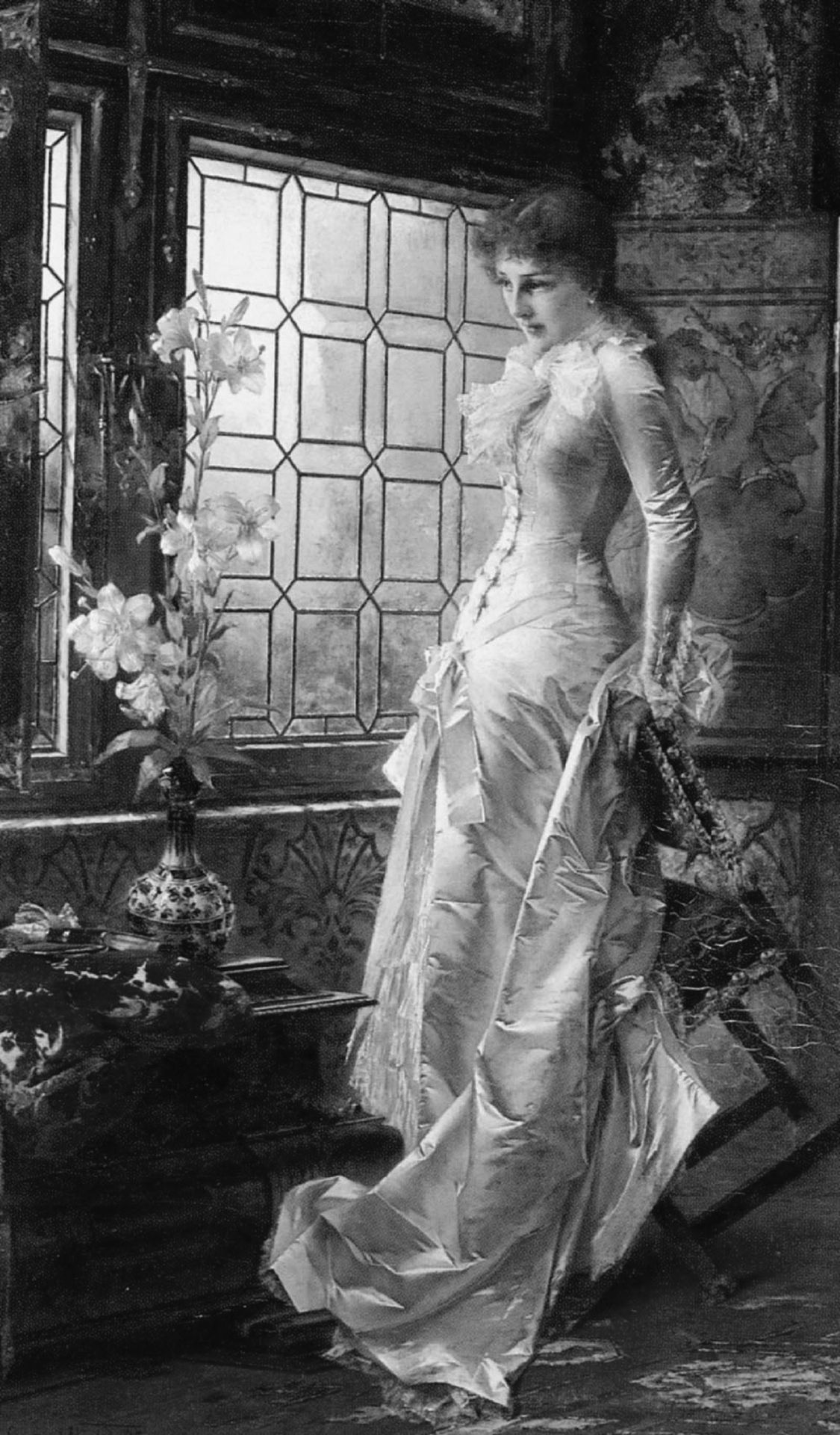 At the window by conrad kiesel early th and late th century