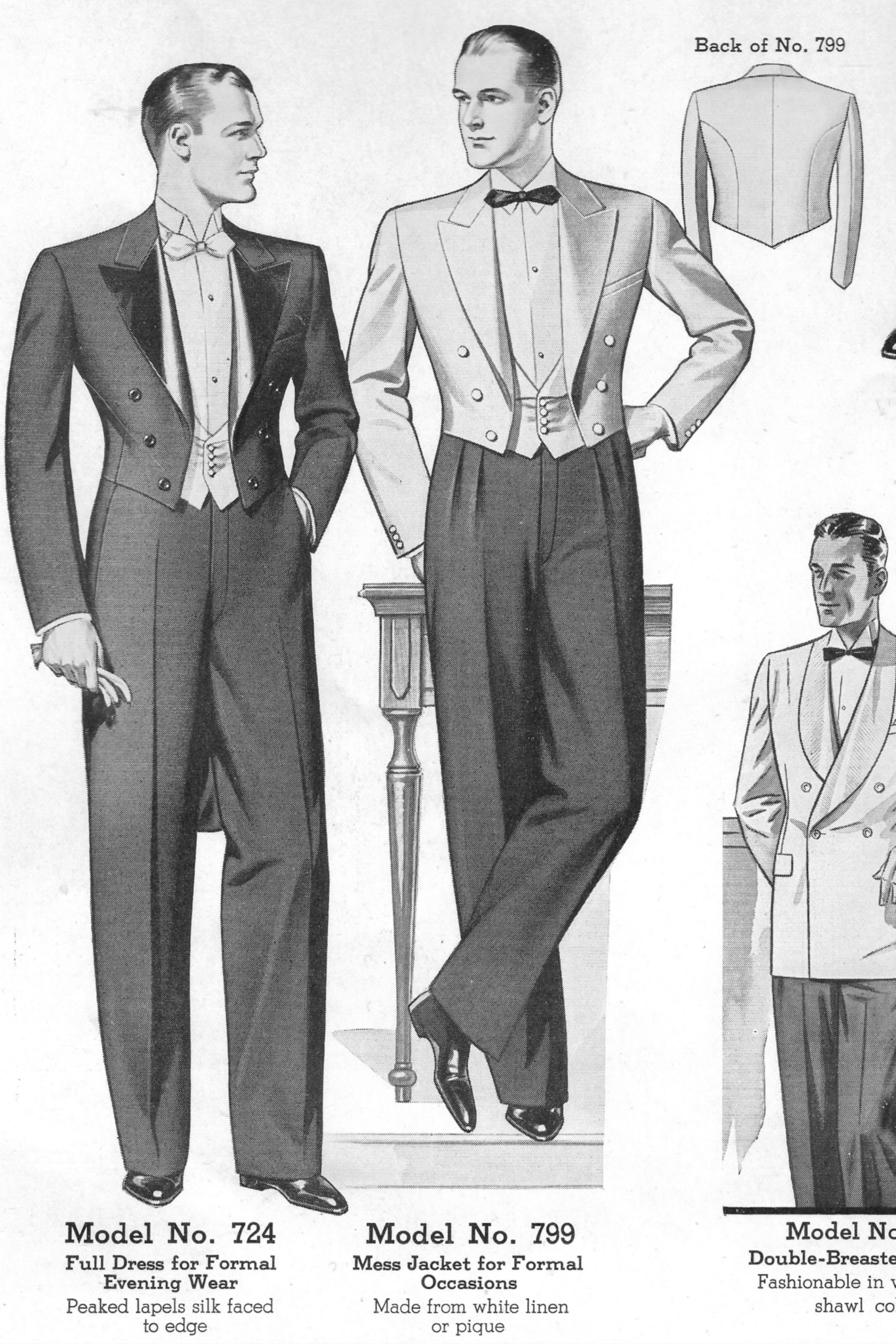 48f7f0640f665d Classic Formal Attire 1930s from Chicago Woolen Mills 1936 Catalog ...