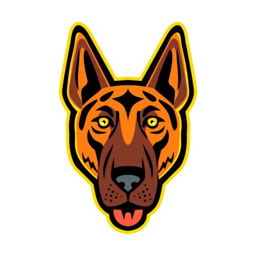 German Shepherd Dog Head Front Mascot In 2021 German Shepherd Dogs Wolf Dog Shepherd Dog