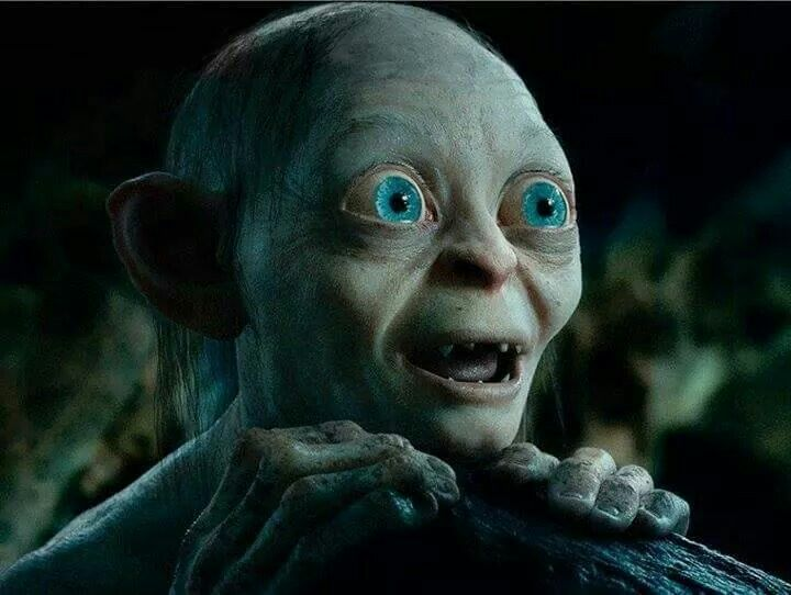 gollum smeagol the hobbit and lotr hobbit funny lord