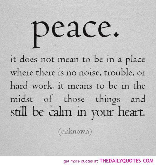 Balance Life Quotes Love Peace. QuotesGram