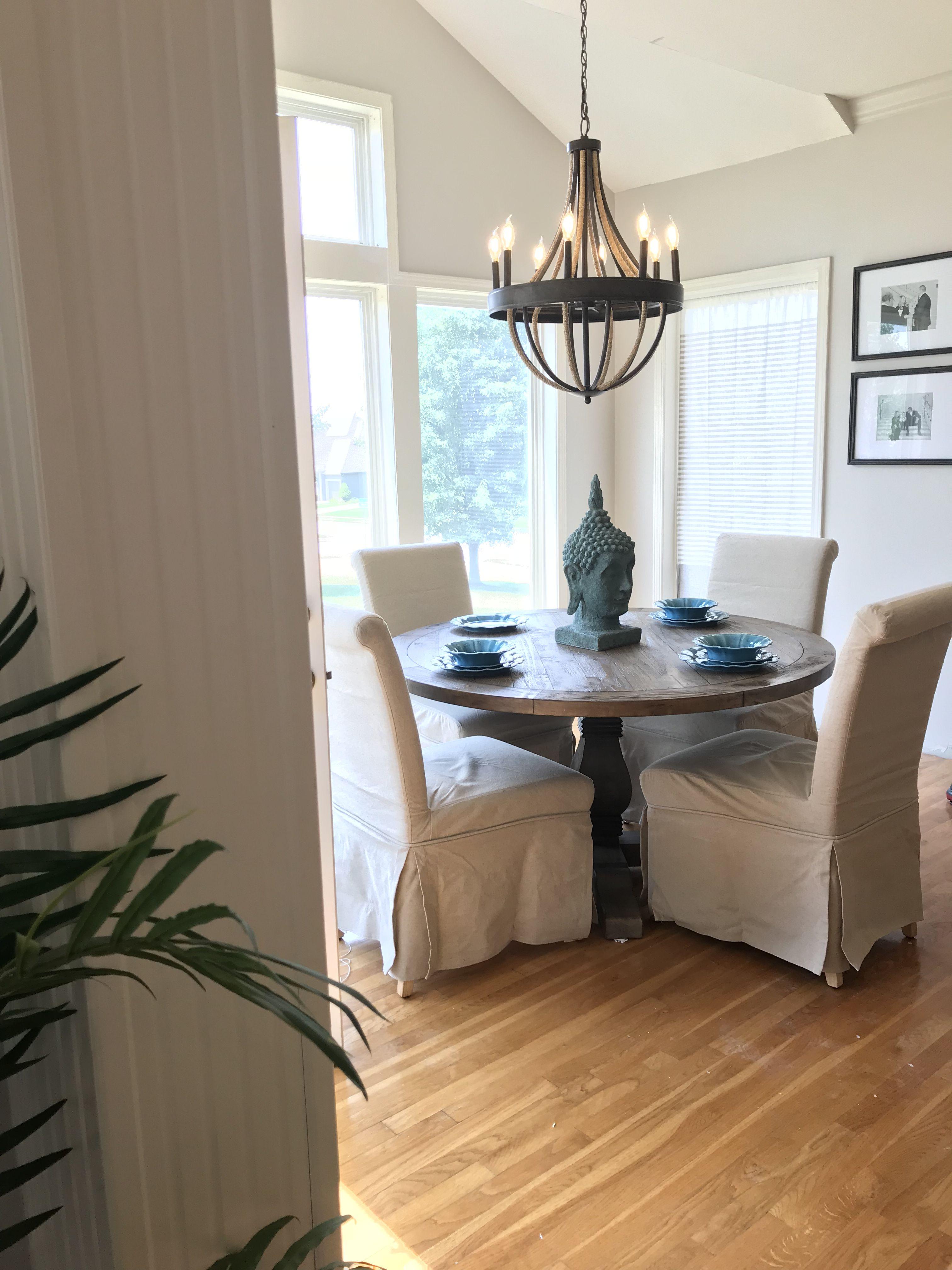 Kitchen Dining Interior Design: Breakfast Nook Kitchen Dining Round Table Lighting