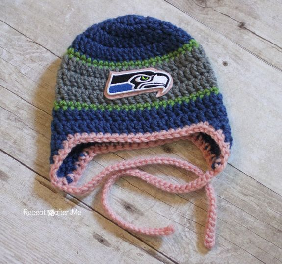 Repeat Crafter Me Crocheted Sports Team Beanies Free Crochet