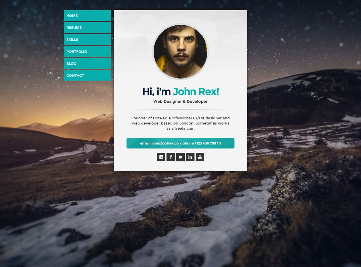 Cards Is Premium Full Responsive Retina Resume Html Template