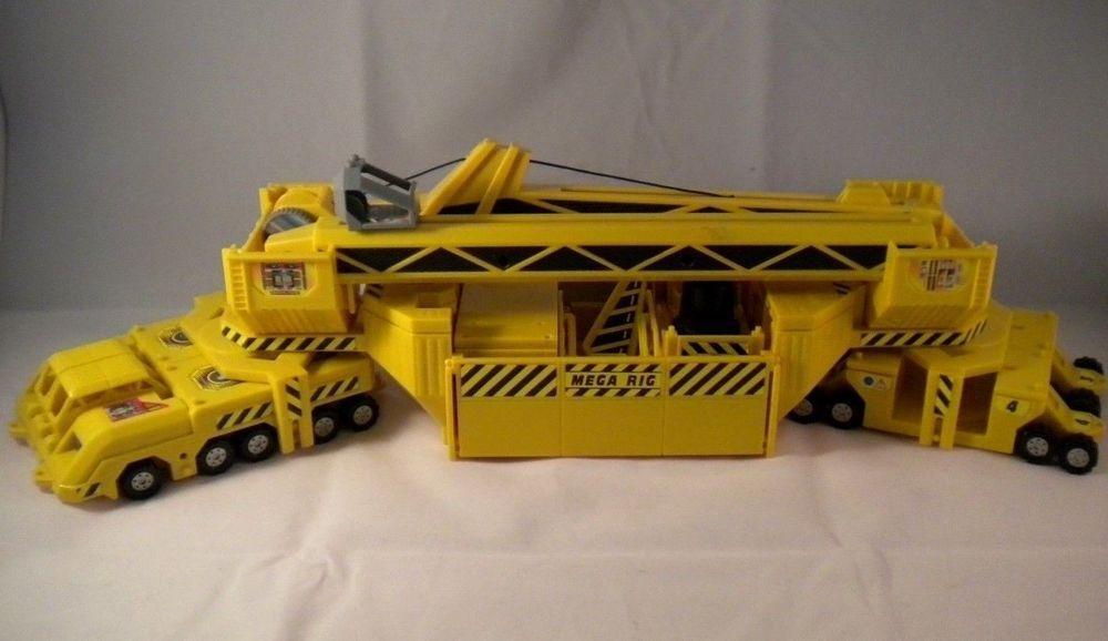 1990 S Vintage Hot Wheels Mega Rig Construction Site Play