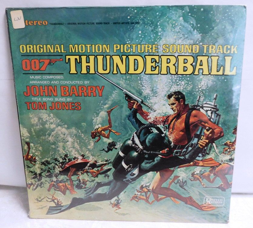 007 Thunderball James Bond Soundtrack Vinyl Record Album