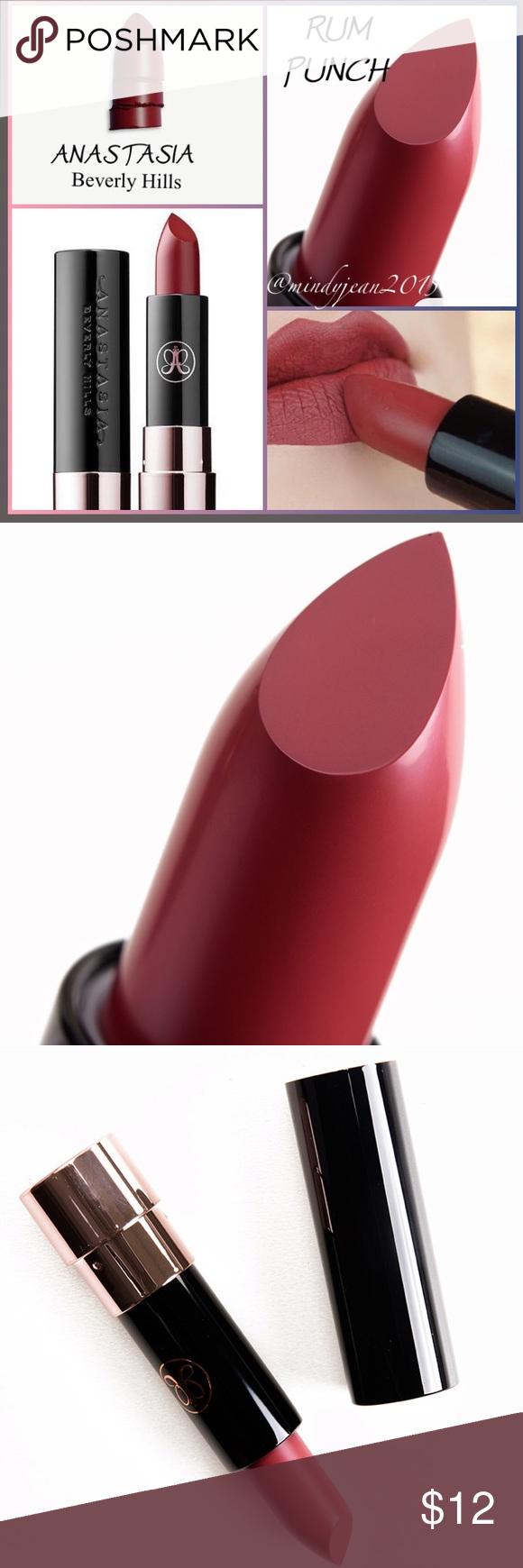 Anastasia Beverly Hills Matte Lipstick Rum Punch Lipstick Matte Lipstick How To Line Lips
