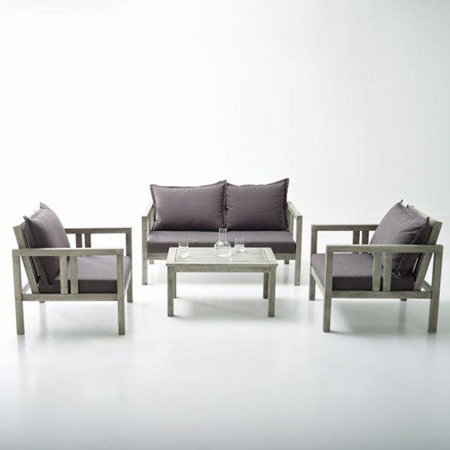 Salon de jardin eucalyptus Fleurida La Redoute Interieurs : prix ...