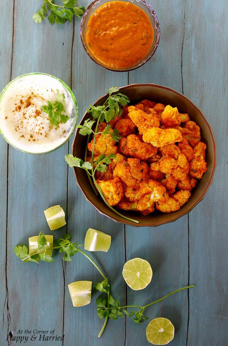 Healthy Oven-Grilled Tandoori or Tikka Cauliflower Bites (Tandoori or Tikka Gobi)