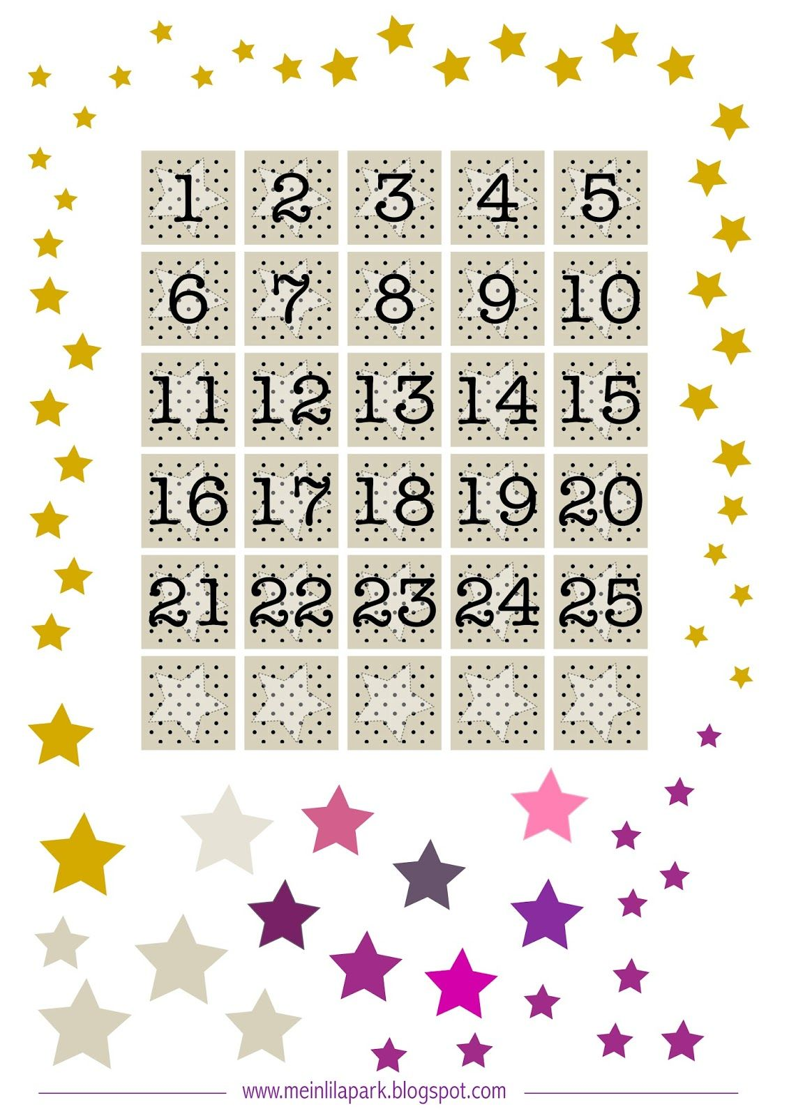 Free Printable Advent Calendar Tags Ausdruckbarer Adventkalender Freebie Printable Advent Calendar Calendar Printables Printable Numbers